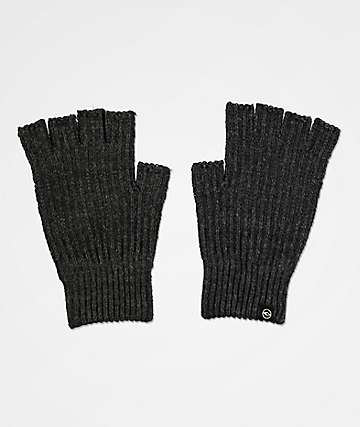 Dravus Ribless Grey Fingerless Gloves