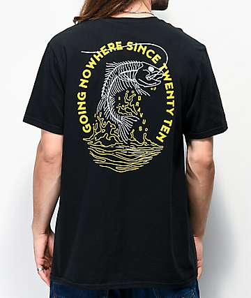 Dravus Skeleton Bass Black T-Shirt