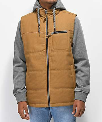 Dravus Talon Tobacco & Grey 2Fer Vest Jacket