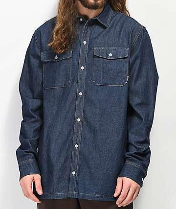 Dravus Trades Dark Denim Long Sleeve Shirt