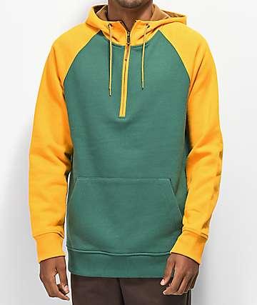 Dravus Treeline Green & Yellow Hoodie