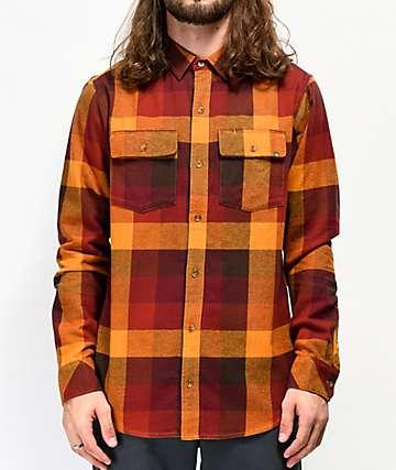 Dravus Willard Orange & Red Flannel Shirt