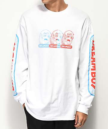 Dreamboy RGB Logo White Long Sleeve T-Shirt