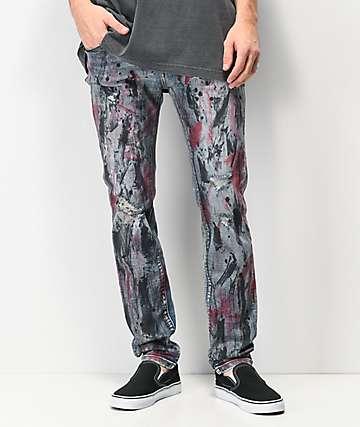 Dript Denim D.016 Ripped & Distressed Skinny Jeans