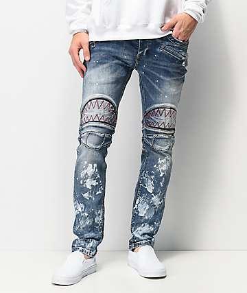 Dript Denim D.029 Biker Blue Skinny Jeans