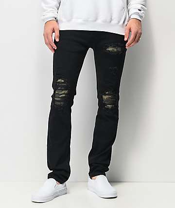 Dript Denim D.072 Rip & Repair Black Skinny Jeans