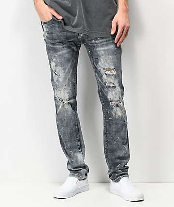 Dript Denim D.081 Paint Splatter Skinny Jeans
