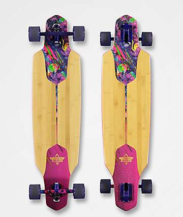 "Dusters Tropical Channel 38"" Drop Through Longboard Complete"