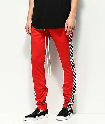 EPTM. Racing Checker Red Track Pants