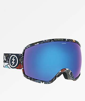 Electric Egg Curl Blue Chrome Snowboard Goggles