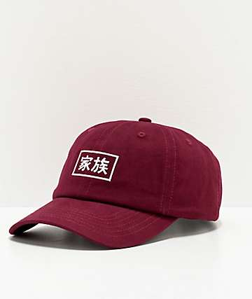 Electric Family Kazoku Burgundy Strapback Hat