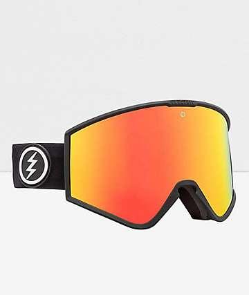 Electric Kleveland Black & Brose Red Chrome Snowboard Goggles