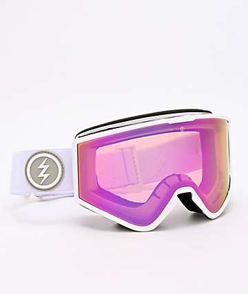 Electric Kleveland Matte White & Pink Chrome Snowboard Goggles
