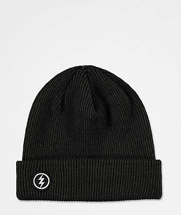 Electric Polk Heavy Black Heather Beanie