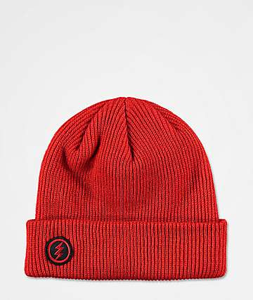 Electric Polk Heavy Blood Red Heather Beanie