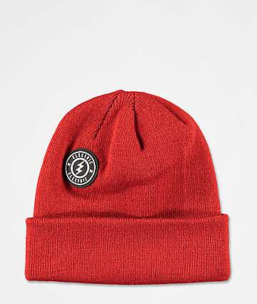 Electric Watchman Rawhide Red Beanie