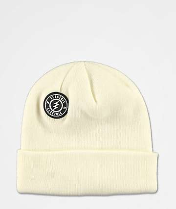 Electric Watchman White Beanie