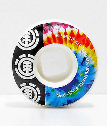 Element 52mm 95a Tie Dye Skateboard Wheels