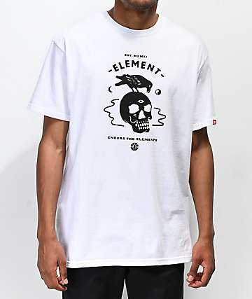 Element Crow camiseta blanca