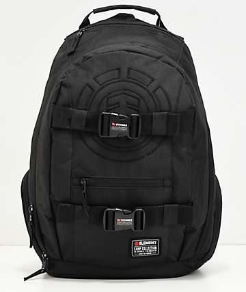 Element Mohave Black Logo Black Backpack