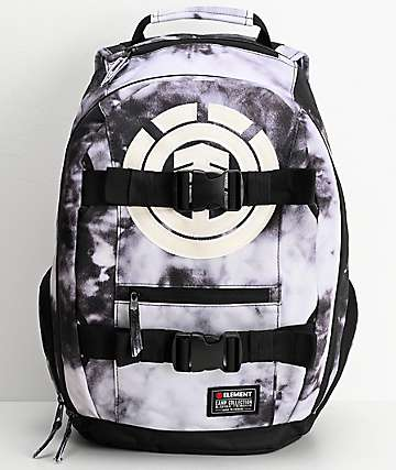 Element Mohave mochila negra y blanca de lavado acido