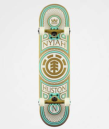"Element Nyjah Gilded 7.75"" Skateboard Complete"
