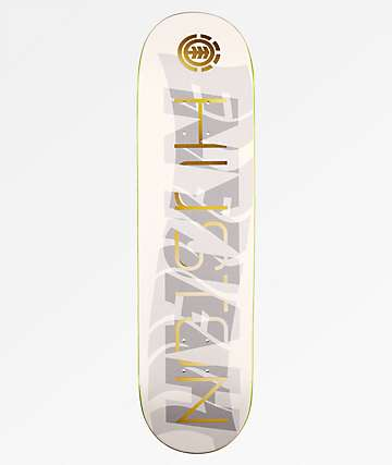 "Element Nyjah Gold Overlay 8.1"" Skateboard Deck"