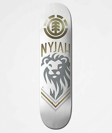 "Element Nyjah White Lion 8.0"" Skateboard Deck"