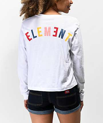 Element Rainbow White Long Sleeve T-Shirt