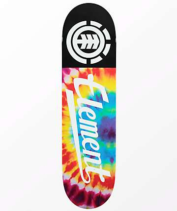 "Element Script Tie Dye 7.75"" tabla de skate"