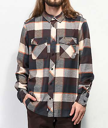 Element Tacoma Brown Flannel Shirt