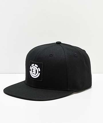 Element United Flint Black Snapback Hat