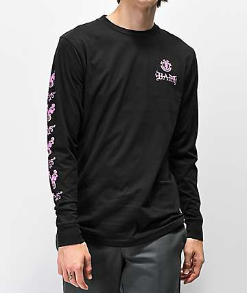 Element x BAM x HIM Heartagram V2 Black Long Sleeve T-Shirt