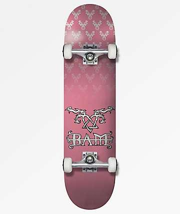 "Element x BAM x HIM Pink 7.75"" Skateboard Complete"
