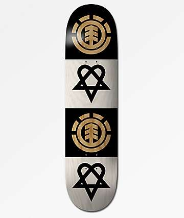 "Element x Bam x HIM Bam Quad Heartgram 8.0"" Skateboard Deck"