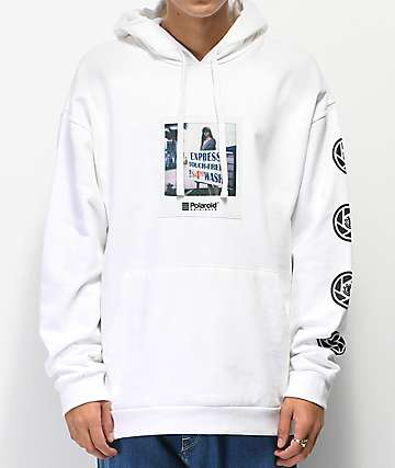 Element x Polaroid Nick Garcia White Hoodie