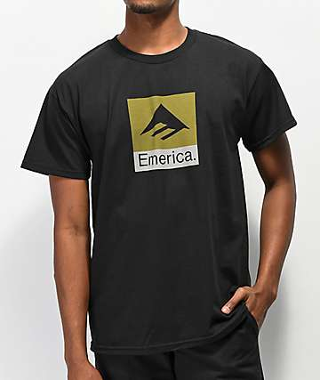 Emerica Combo Black T-Shirt