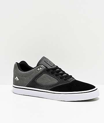 Emerica Reynolds 3 G6 Vulc Black, Charcoal & Grey Skate Shoes