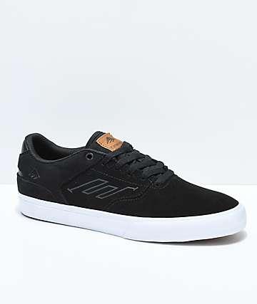 Emerica Reynolds Vulc Low Black, White & Brown Skate Shoes