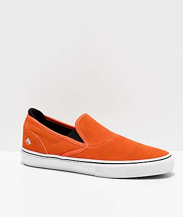 Emerica x Bronson Wino G6 Orange Slip-On Skate Shoes