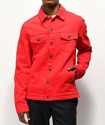 Empyre Ace Red Denim Jacket
