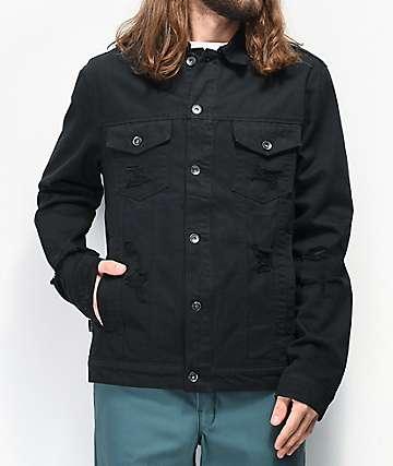 Empyre Ace Shred Black Denim Jacket
