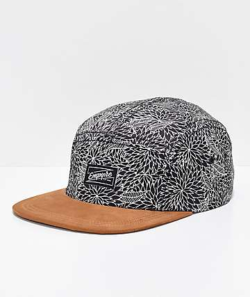 Empyre Angelo Black 5 Panel Strapback Hat