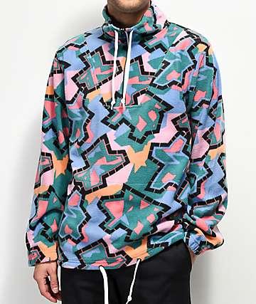 Empyre Aspen Multicolor Half Zip Mock Sweatshirt