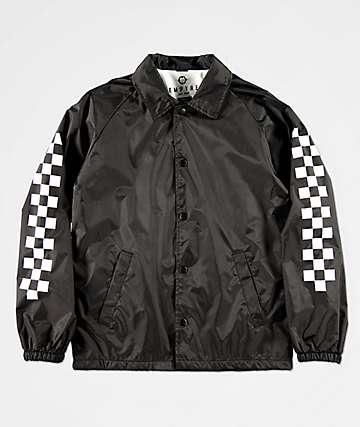 Empyre Boys Checkered Black Coaches Jacket