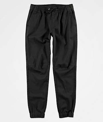 Empyre Boys Creager Elastic Waist Black Jogger Pants