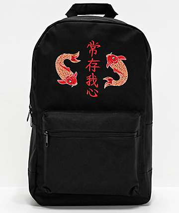 Empyre Brenda Koi Black Backpack