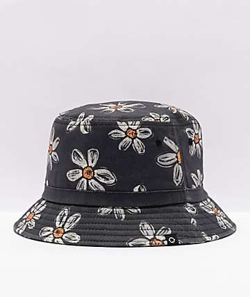 Empyre Bucket O' Daisies Black Bucket Hat