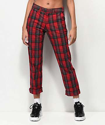 Empyre Caelie Red Plaid Pants
