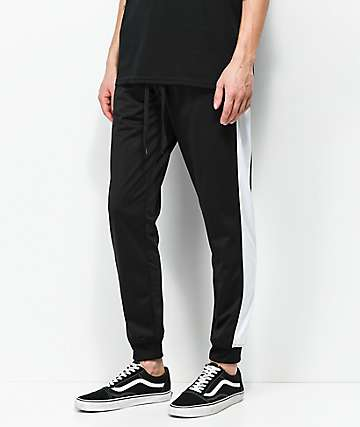 Empyre Caples pantalones de chándal en negro blanco